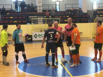 Inizio gara Futsal Polistena-GLS Kroton