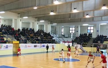 Una fase di gioco del match tra Polistena C5 e Sensation Profumerie